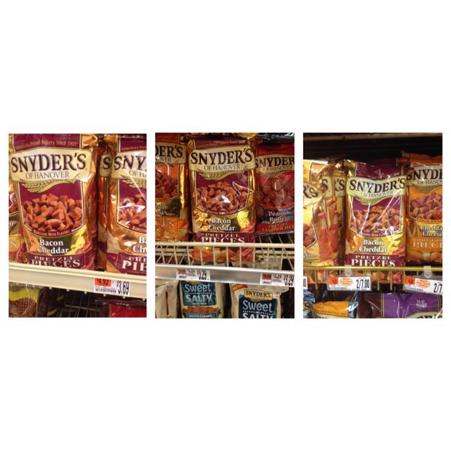 Shaw's pretzels; Hannaford pretzels; Market Basket pretzels