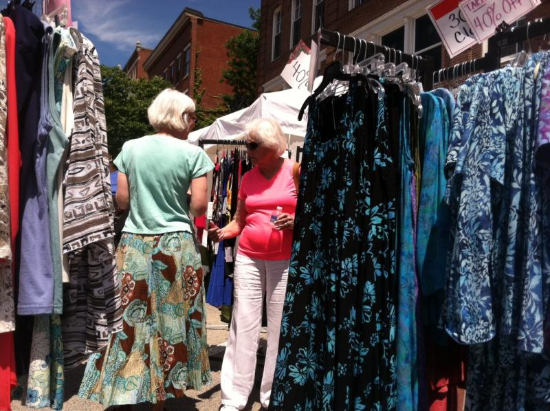 Customers shop at Fabulous Looks Boutique in downtown Concord at Market Days.