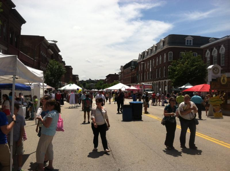 Eighty downtown stores are taking part in Concord's Market Days.