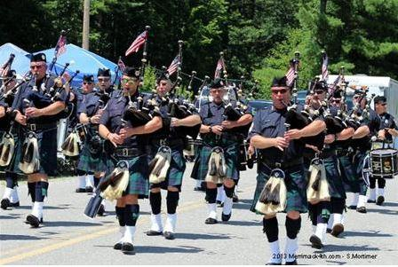 The town of Merrimack's Independence Day Parade will be one of several in New Hampshire this year to feature presidential candidates. None, however, are expected to campaign while playing bagpipes.