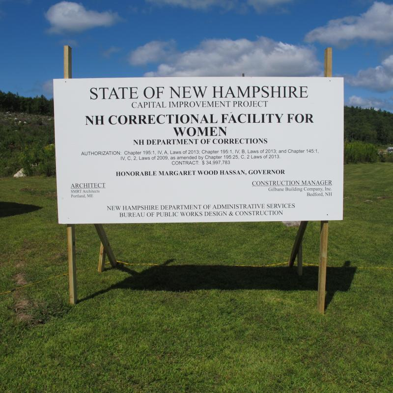 The new State Prison for Women will be located behind the State Prison for Men in Concord.