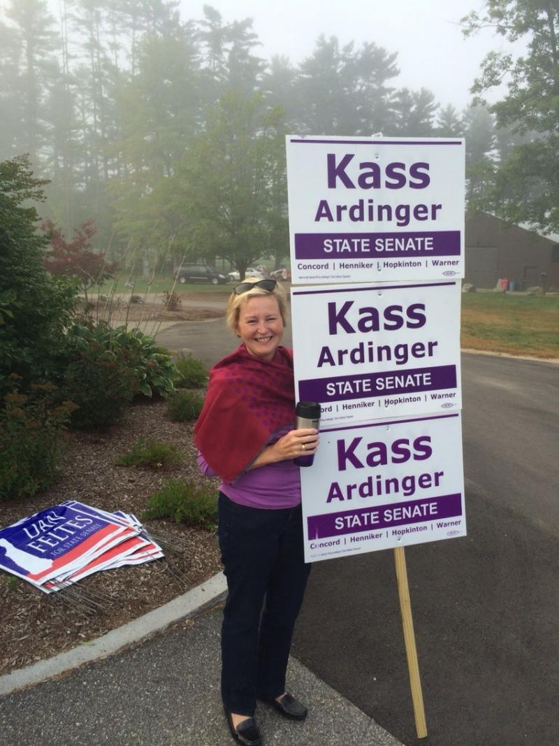 Concord's Susan Heineke campaigning for state senate candidate Kass Ardinger