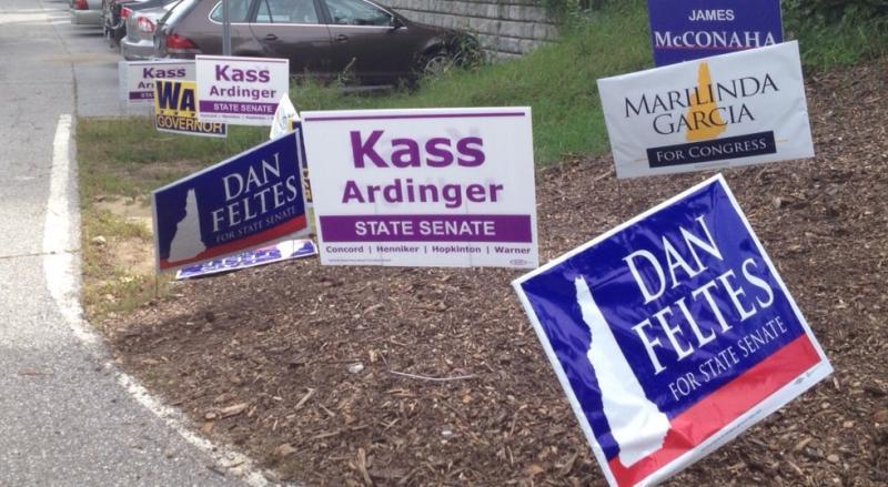 Campaign signs in Concord
