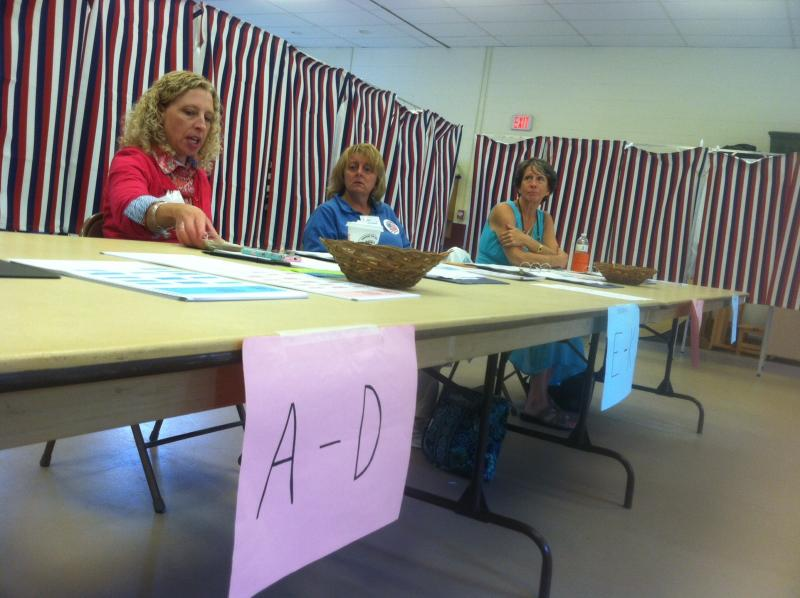 Election workers wait for voters at Concord's Ward 2