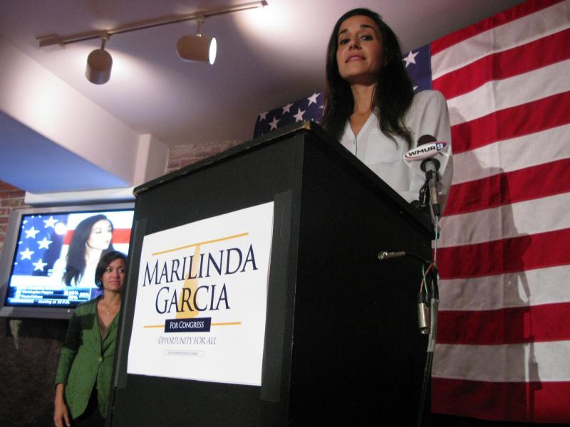 Marilinda Garcia gives her acceptance speech for CD2 GOP nomination