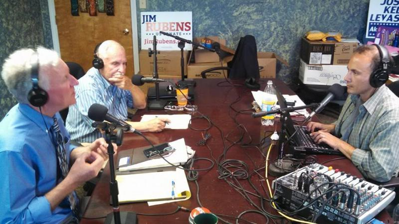 GOP Senate candidate Jim Rubens appears on the talk radio program 'Girard At Large' on primary day