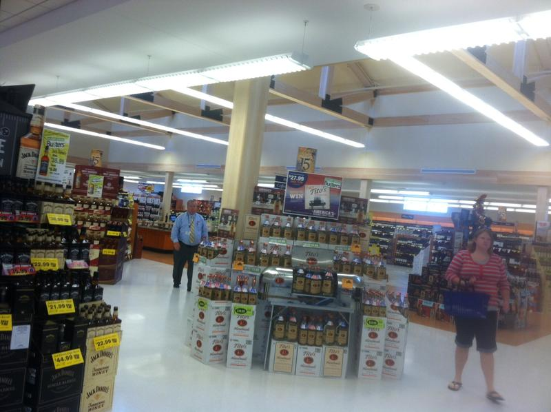 The new liquor store on the northbound side of Interstate 93 opened Thursday.