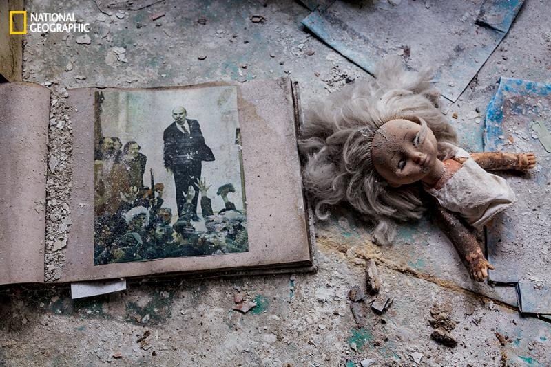 Visitors stealthily and often subtly alter the landscape. A battered doll keeps company with Vladimir Lenin.