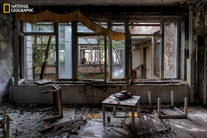Once a model Soviet city with almost 50,000 people, Pripyat is slowly decaying, as are about 200 villages in the exclusion zone.