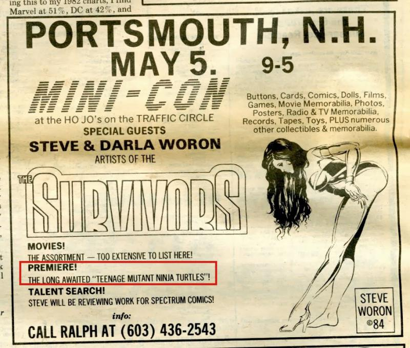 An ad that ran in the Comics Buyer's Guide 544 (April 20th, 1984) that promoted the Jet Pack Comic Convention.