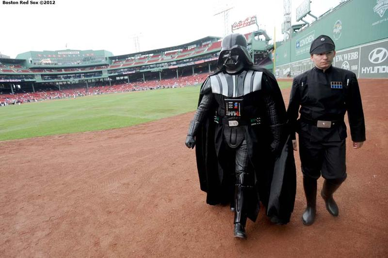 Bob as Darth Vader makes an appearance at the Futures at Fenway game.