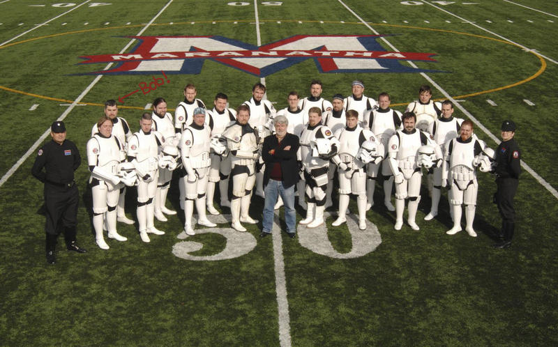 The New England Garrison of the 501st poses with George Lucas.