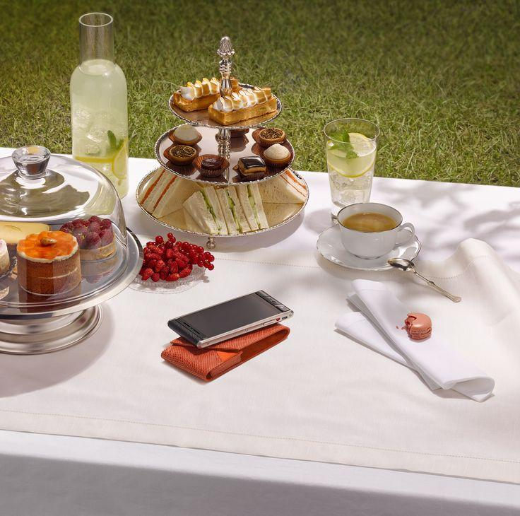The Aster: the perfect phone for an outdoor dessert party.