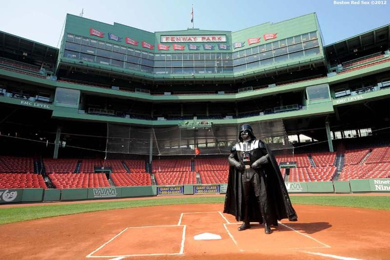 Bob as Darth Vader at home plate.
