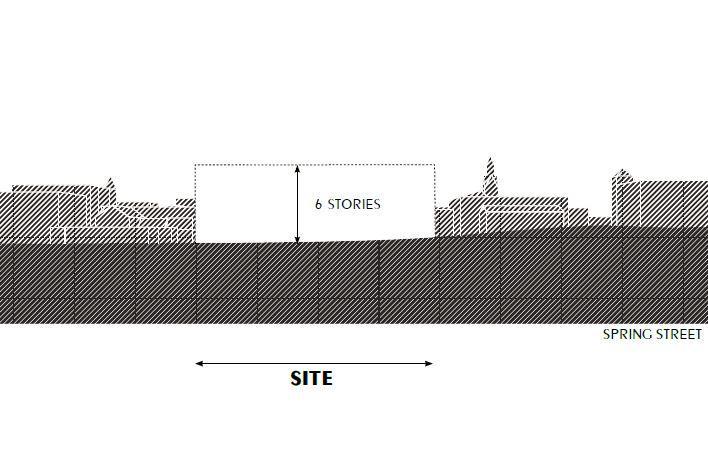 Proposed elevation of venue