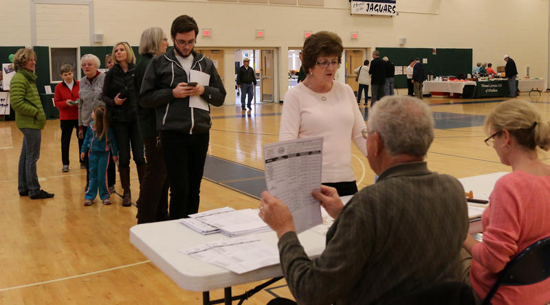 Election Day at Windham High School in Windham.