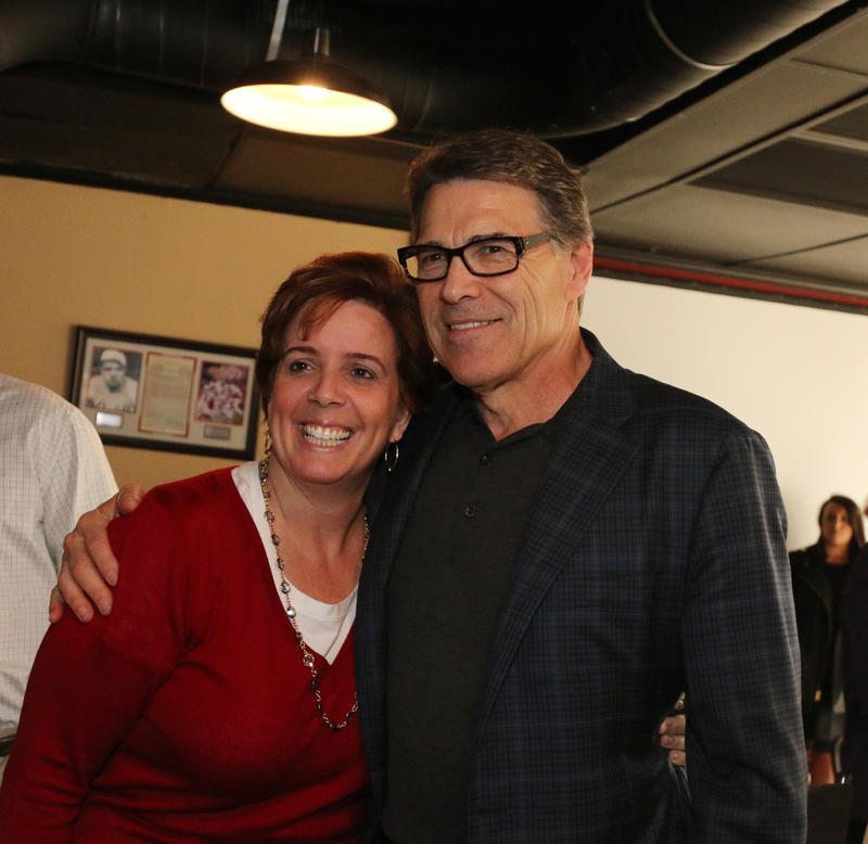 Gov. Rick Perry with NH GOP Chair Jennifer Horn