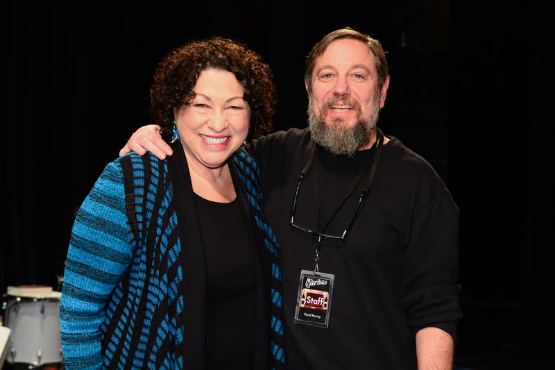 I had the honor of photographing US Supreme Court Justice Sonia Sotomayor at her appearance at a Writers on a New England Stage show at The Music Hall in Portsmouth, NH. At the end of the evening she grabbed ny camera and thrust it into TMH's Executive Di