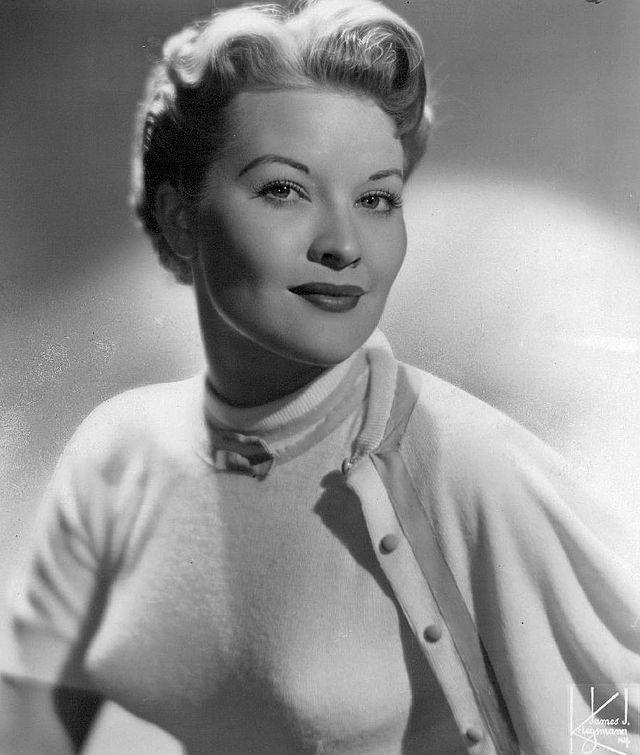 Patti Page wearing a bullet bra in 1955.