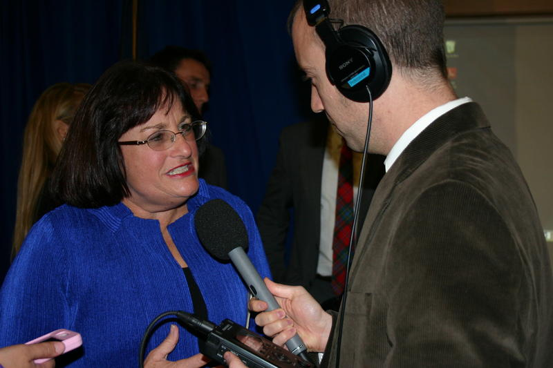 Ann McLane Kuster talks to NHPR's Jack Rodolico after her CD2 win