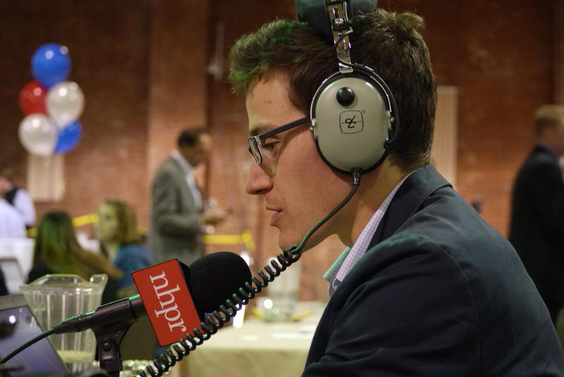 NHPR's Sam Evans-Brown at the Brown - Havenstein headquarters in Manchester