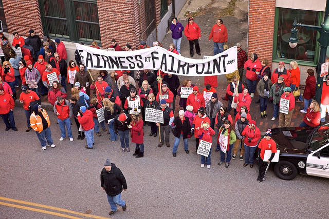 Last year, Fairpoint workers were engaged in a months-long strike amid contract negotiations. Ultimately, the new contract ended up including worker concessions on health care and retirement benefits.
