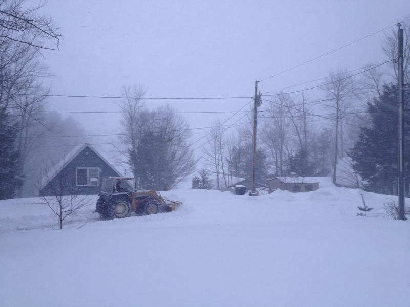 Listeners Silas and Jake sent us this photo taken in Farmingham at 4 p.m.
