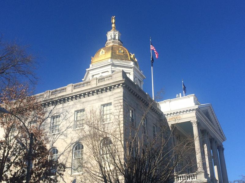 The N.H. Statehouse on Inauguration Day 2015