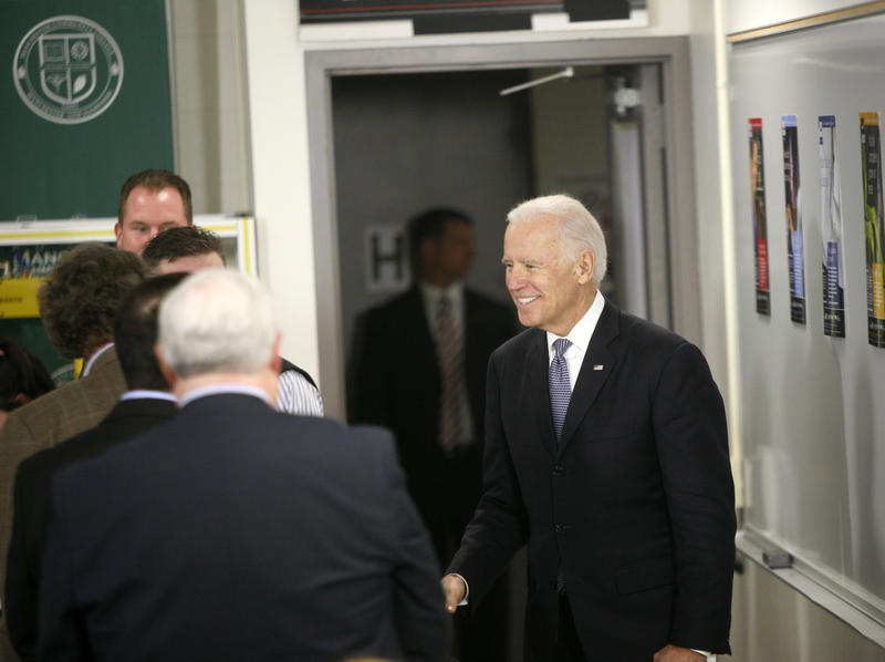 Vice President Biden at Manchester Community College Wednesday
