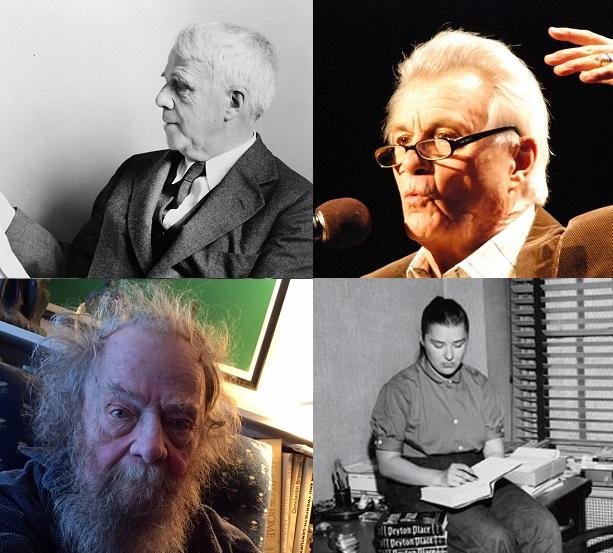 Robert Frost, John Irving, Donald Hall and Grace Metalious