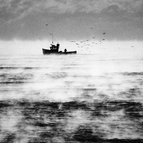 """Fishing Boat in Seasmoke"""