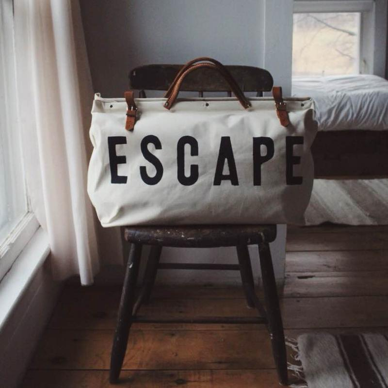 ESCAPE canvas bag from Forestbound in Somerville, MA