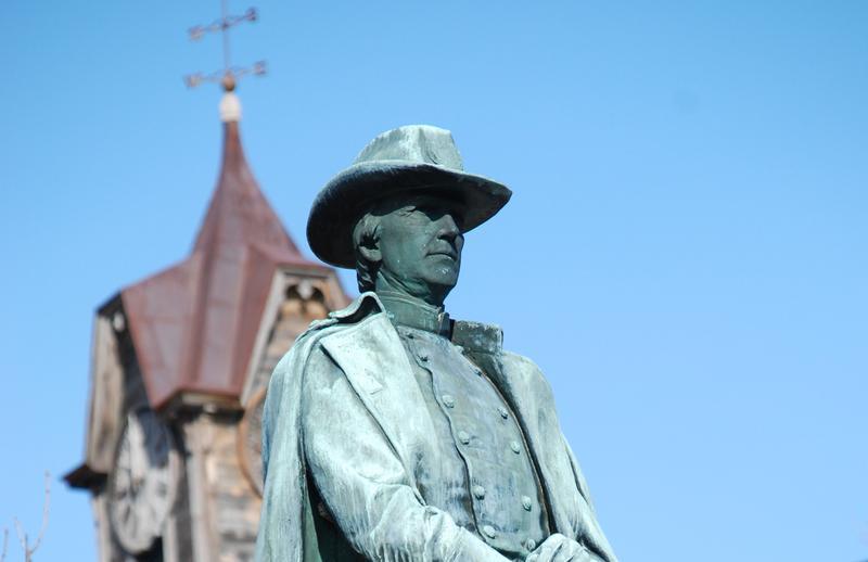 Warner's statue of Walter Harriman, Civil War Brigadier General, New Hampshire Legislator and Governor.