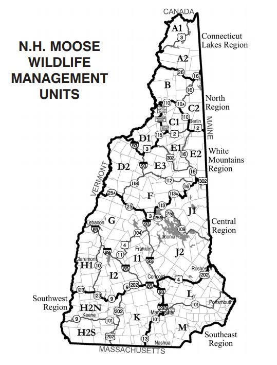 Fish And Game Contemplates An End To The Moose Hunt New - New hampshire population map