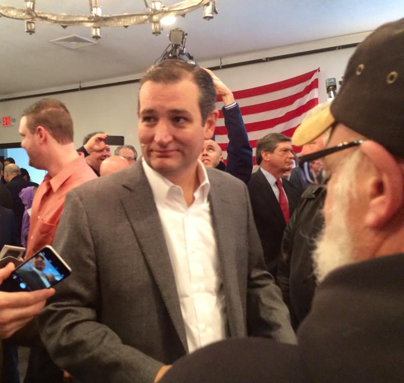 Cruz at the Merrimack VFW in March