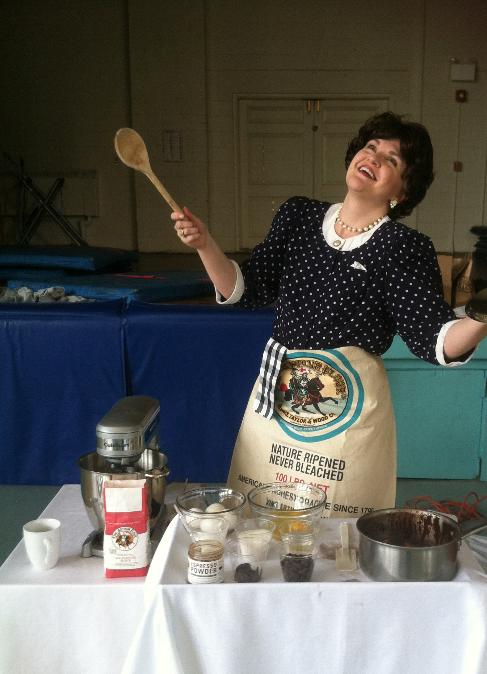 Lindsey Anderson as Julia Child in <i>Bon Appetit!</i>