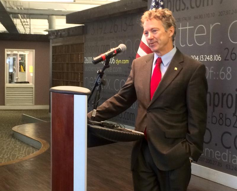 Rand Paul at Dyn Inc. in Manchester