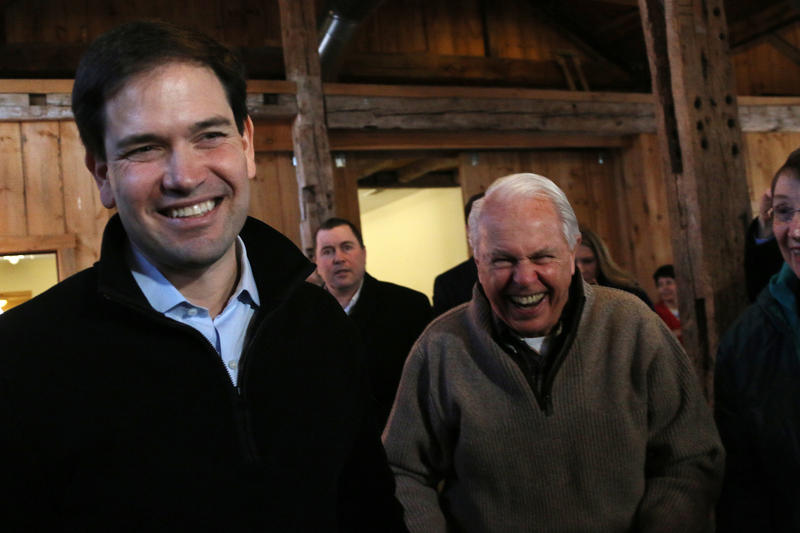 Rubio at an event in Hollis in February