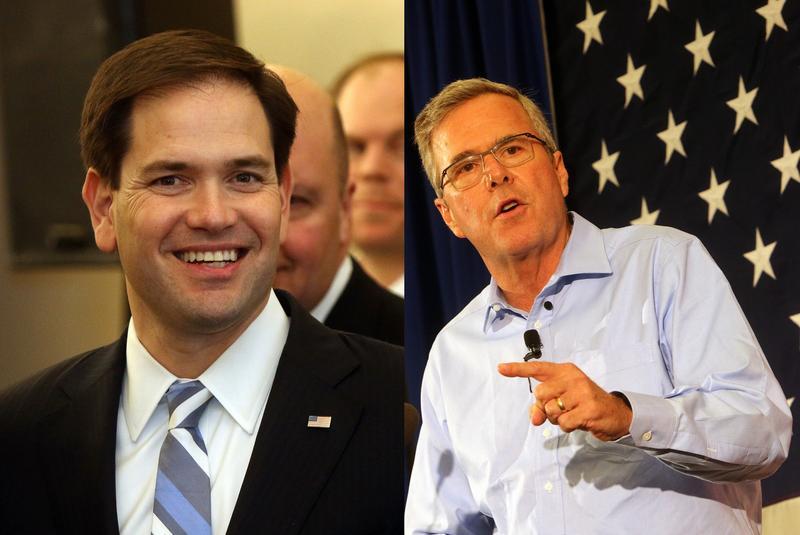 Marco Rubio and Jeb Bush