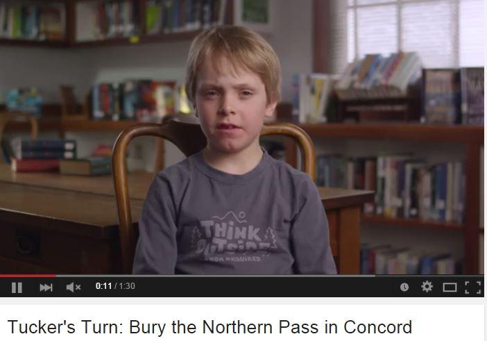 Screenshot from a video in which Northern Pass opponents claim it will have a negative impact on Concord