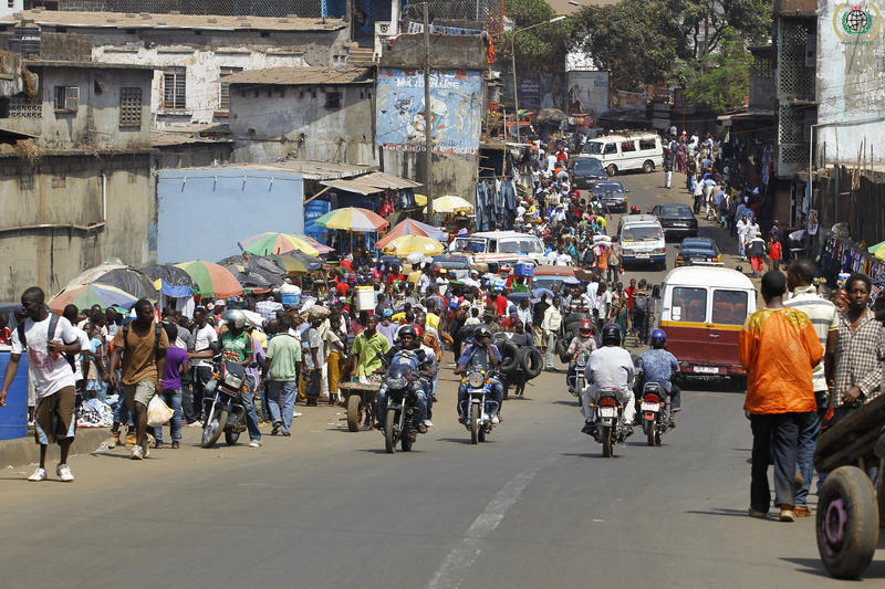 A scene from the street in Freetown, Sierra Leone's capital, in 2012.