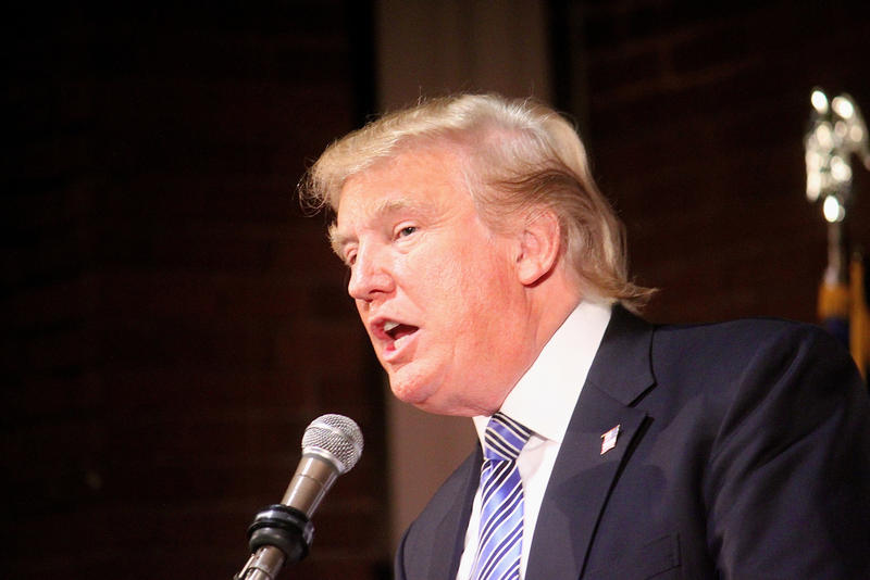 Donald Trump speaks at an event in Manchester, Nov. 12, 2014.