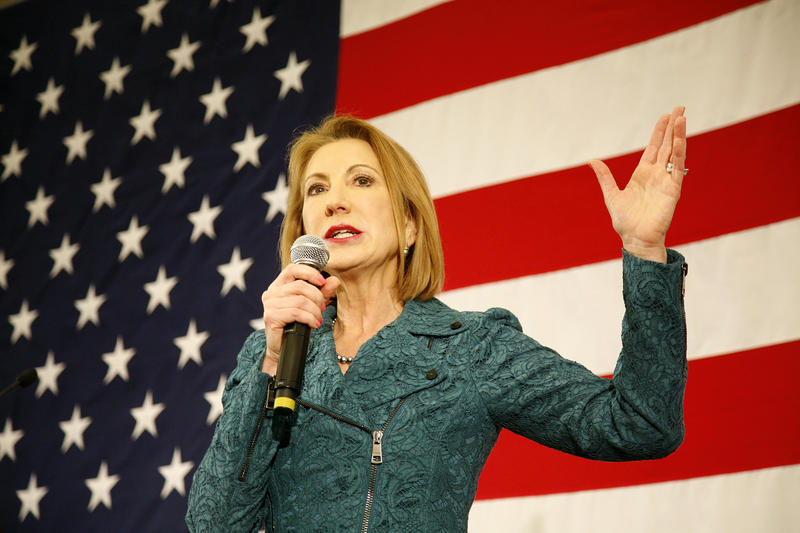 Fiorina speaks at the N.H. GOP Leadership Conference in April 2015