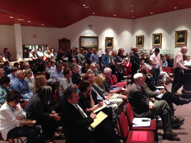 A line of 50 residents and business owners beseeched Portsmouth City Councilors to bond a second garage on Monday night