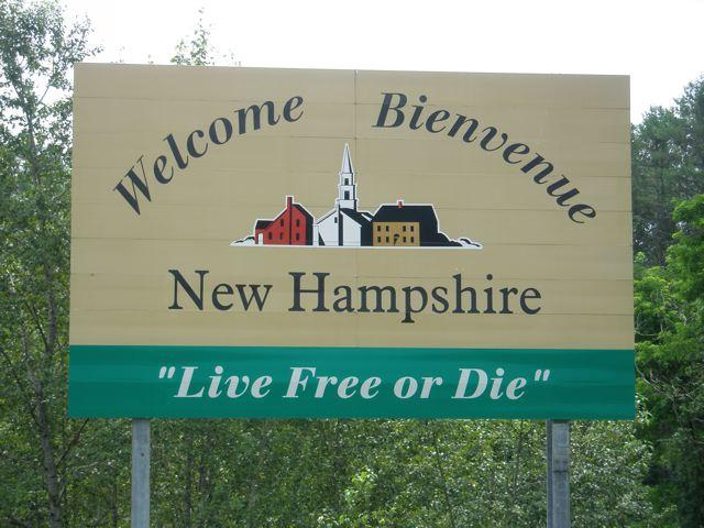 New Hampshire welcome sign
