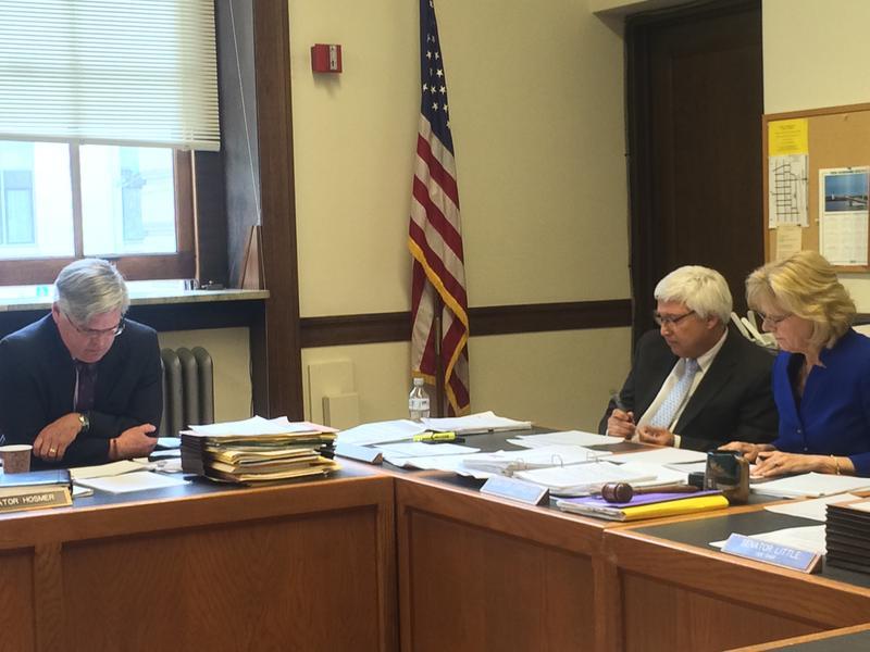 Tensions were high among Senate President Chuck Morse and Senator Andrew Hosmer when debating over raiding the state's renewable energy fund.