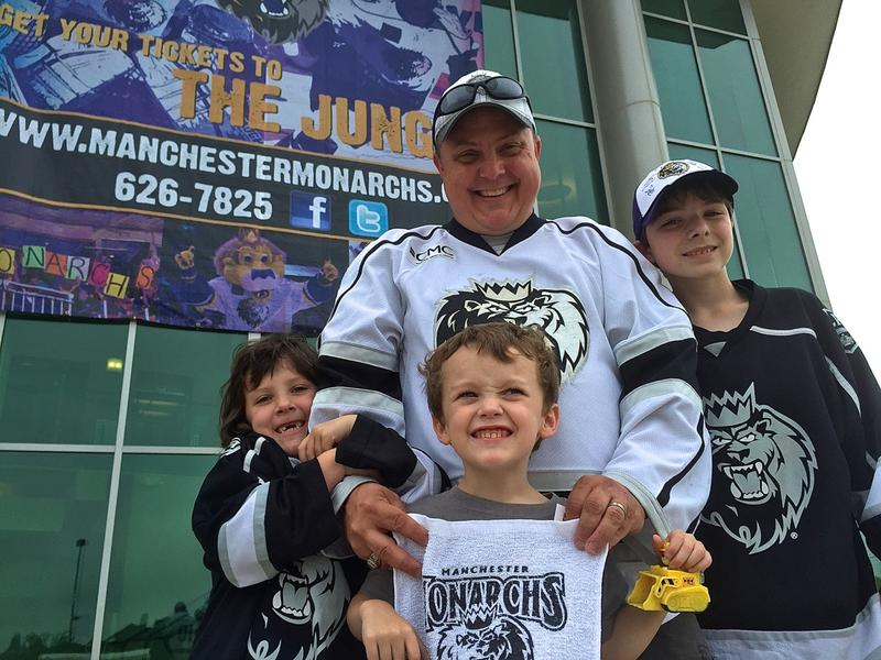 """Andy Crone, Milton Mills, NH: """"I understand why they're leaving, but it's sad; it really is. I do think the ECHL coming in is a good thing, and will be keeping hockey right here in Manchester. We've already purchased our 20-game passes."""""""