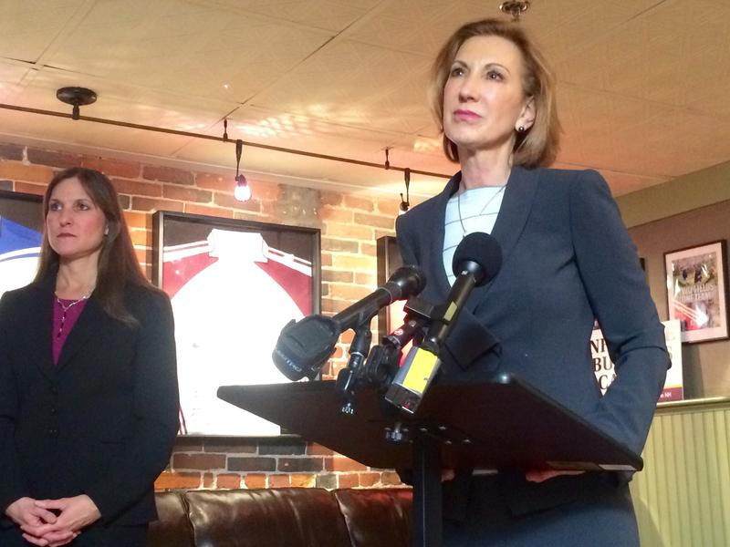 Carly Fiorina at the Barley House in Concord, April 28, 2015.