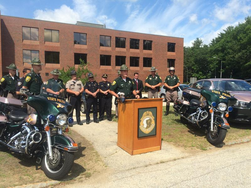 N.H. State Police Colonel Robert Quinn urges drivers to abide by the Hands Free Law that goes into effect July 1.