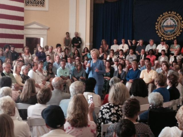 Hillary Clinton focused on her recent economic plan in a speech to voters in Dover yesterday.